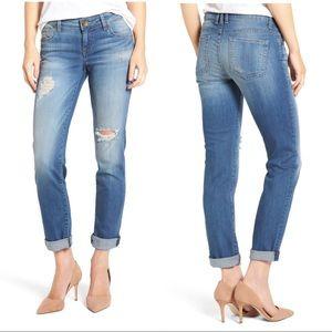 Kut did the Kloth Boyfriend distressed jeans sz 24